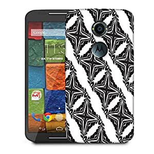 Snoogg Grey Stars Designer Protective Phone Back Case Cover For Moto X 2nd Generation