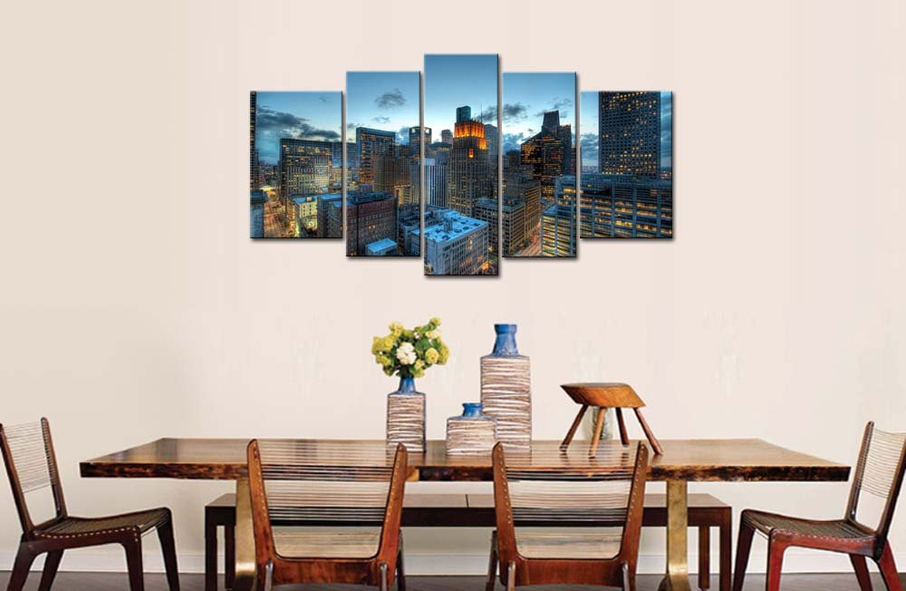 Amazon.com: So Crazy Art® 5 Piece Wall Art Painting Houston With ...