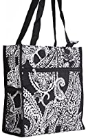 World Traveler Paisely Print Collection Travel Tote Bag 12-inch