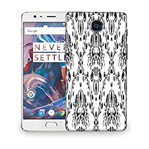 Snoogg Grey Pattern White Designer Protective Phone Back Case Cover For OnePlus 3