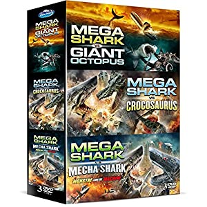 Coffret mega shark : Mega Shark vs Giant Octopus - Mega Shark Vs Crocosaurus - Mega Shark Vs Mecha S