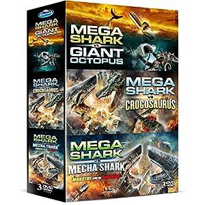 Coffret mega shark : Mega Shark vs Giant Octopus - Mega Shark Vs Crocosaurus - Mega Shark Vs Mecha S