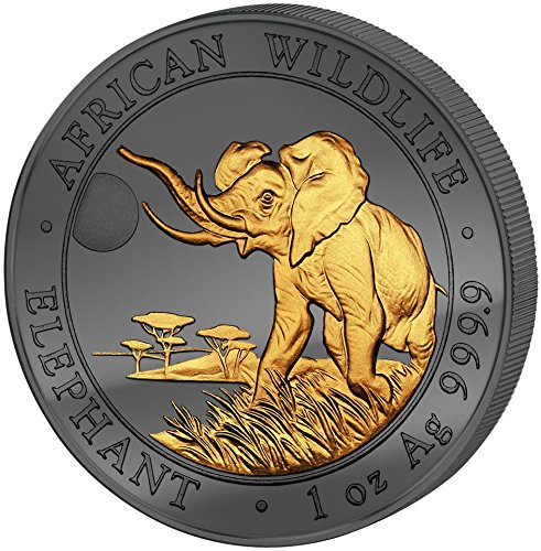 2016 SO GOLDEN ENIGMA Elephant African Wildlife 1 Oz Silver Coin
