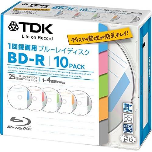 TDK 録画用ブルーレイディスク BD-R 1回録画用 25GB 1-4倍速 インデックス・ディスクシリーズ 10枚パック 5mmスリムケース BRV25TB10A