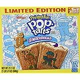 Kellogg's Pop-Tarts Printed Fun - Gingerbread (Limited Edition) - 12 Pastries, 21.1-oz. Box