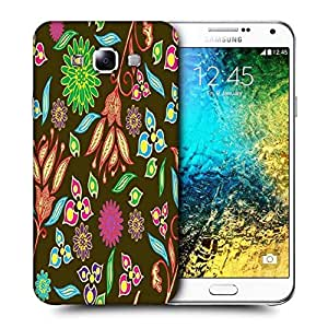 Snoogg Multicolor Petals Printed Protective Phone Back Case Cover ForSamsung Galaxy E7