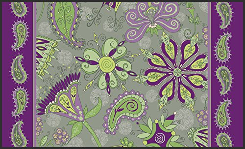 Toland Home Garden Passion Flower 18 x 30-Inch Decorative USA-Produced Standard Indoor-Outdoor Designer Mat 800012