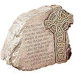 Celtic Cross Garden Stone - Irish Blessing