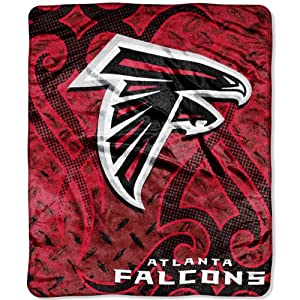 Nfl tattoo 50 inch by 60 inch plush raschel throw for Atlanta falcons tattoo