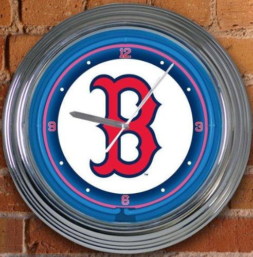 Sports Team Mlb Neon Clock, MLB TEAMS, BOSTON RED SOX