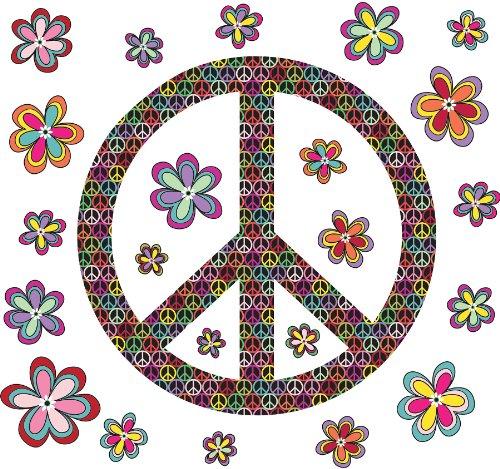 Brewster Wall Pops WPK99063 Peel & Stick Peace Wall Art Kit, 2-Sheets
