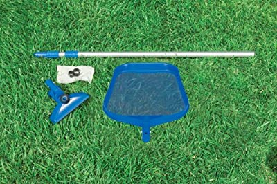 Intex Pool Cleaning Kit with Net, Pool Floor Cleaner and Telescopic Handle