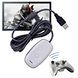 USB PC Steam Video Gaming Receiver Adapter for Xbox 360 Wireless Controller (Color: Silver)