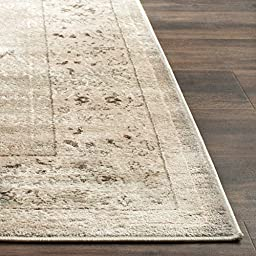 Safavieh Vintage Collection VTG433D Light Grey and Ivory Runner, 3 feet 3 inches by 5 feet 3 inches (3\'3\