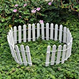 """Miniature Fairy Garden White Wood Picket Fence, 18"""" by 2"""""""