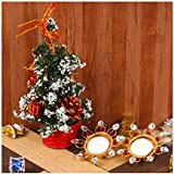 Designer Tea Light Candles With Christmas Decorated Tree
