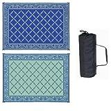 Reversible Mats 9' X 12' Garden Mat (Blue/Light Green)