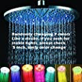 Spring Sales! 8 Inch 7 Color LED Shower Head Romantic Rain Shower, ABS Chrome Surface, Strobe Light Like Party, Add Fun to Shower