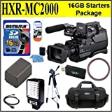 Sony HXR-MC2000U HXRMC2000 Shoulder Mount AVCHD Camcorder Starter Package Includes NPF970 Battery, 16GB SDHC Memory Card + LED video Light + More!!!!