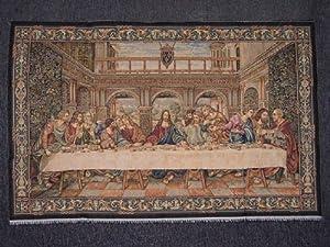 "Italian Tapestry The Last Supper Scenery - TM150 43""x27"""