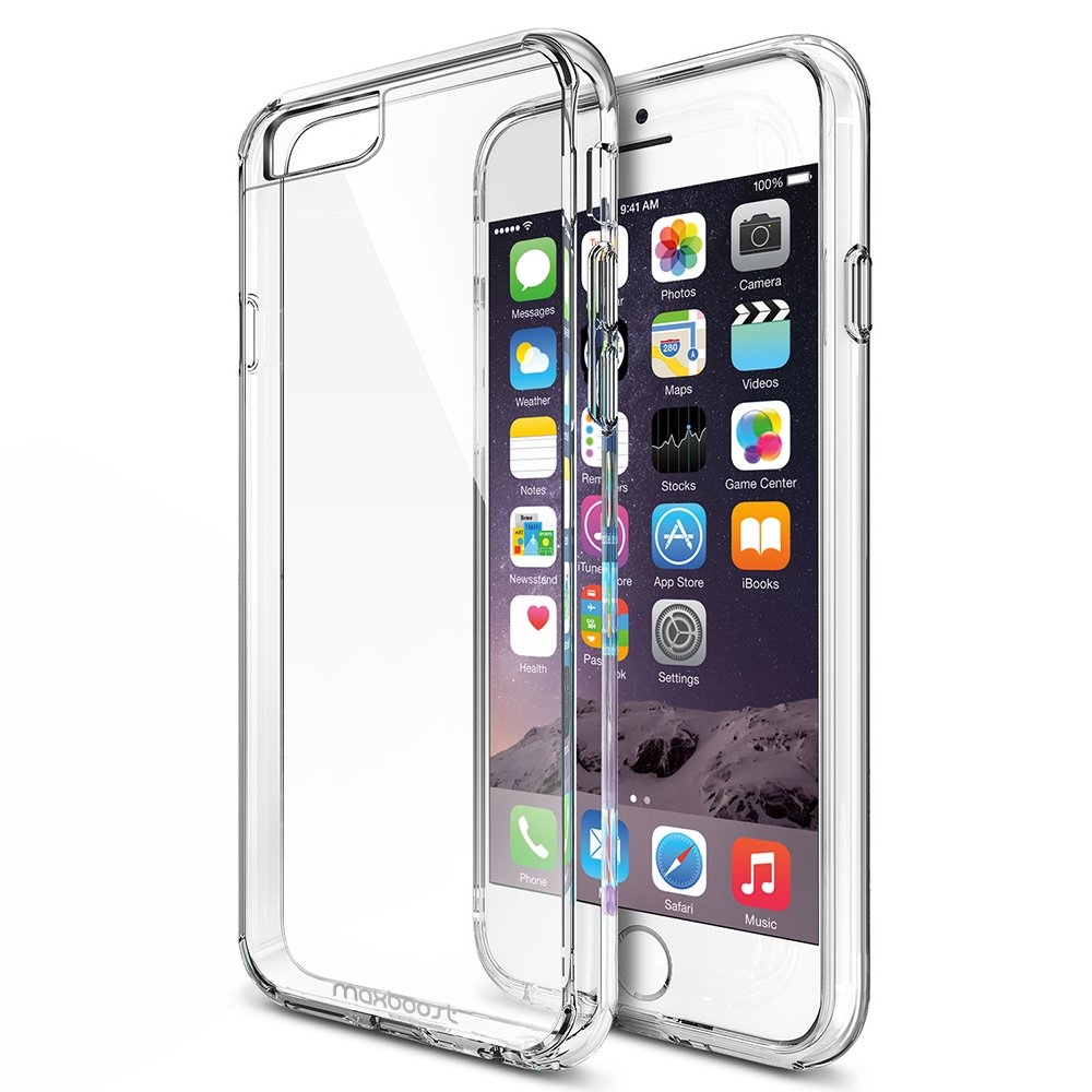 iPhone 6 Plus Case, Maxboost® (Clear Cushion) iPhone 6 Plus (5.5 inch) Cases Bumper (Lifetime Warranty ..