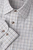 Pure Cotton Herringbone Checked Twill Shirt [T11-1824-S]