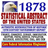 echange, troc U.S. Government - 1878 Statistical Abstract of the United States, National Data Book on Social and Economic Conditions in the United States of Am