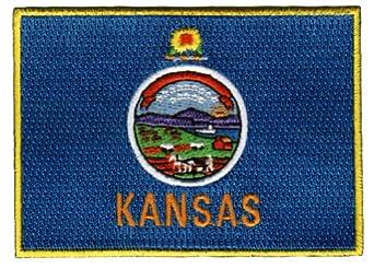 Kansas State Flag Embroidered Patch Iron-On KS Emblem