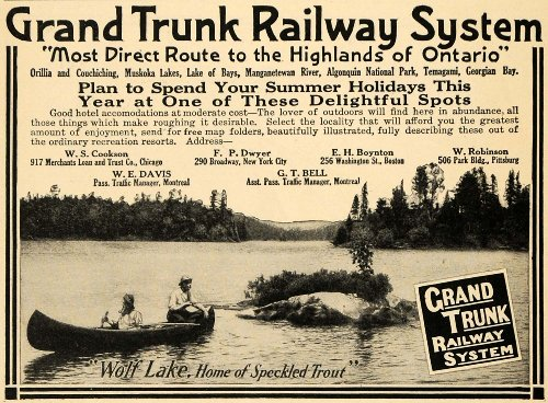 1910-ad-grand-trunk-railway-system-wolf-lake-fish-trout-original-print-ad