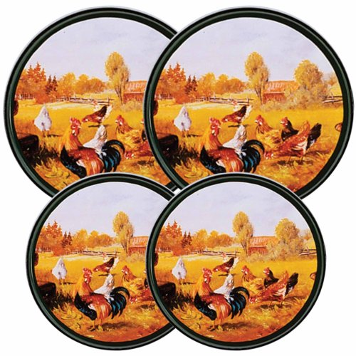 Chickadees All-Over Pattern Set of 4 Reston Lloyd Electric Stove Burner Covers