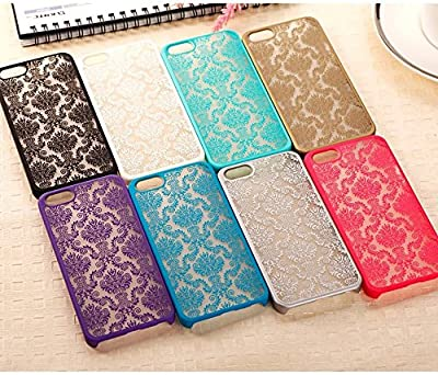 Iphone 4s Case, Iphone 4 Case, Damask Vintage Pattern Slim Fit Matte Rubberized Hybrid Hard PC Cover Case for Iphone 4/4s by I'EXCEL