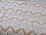 55'' cotton lace fabric Clothing, curtains, tablecloths, bedding lace in White