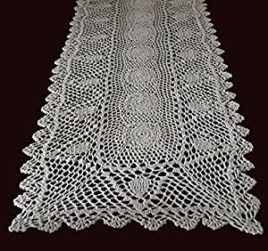 Amazon.com - Exquisite Handmade Crochet Lace Table Runner Placement