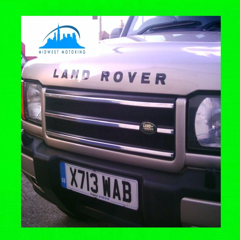 1999-2002 LAND ROVER DISCOVERY II 2 CHROME TRIM FOR GRILL GRILLE 2000 2001 99 00 01 02 дефлекторы окон novline темный для land rover range rover 2002 2012 комплект 4шт nld slrrr0232
