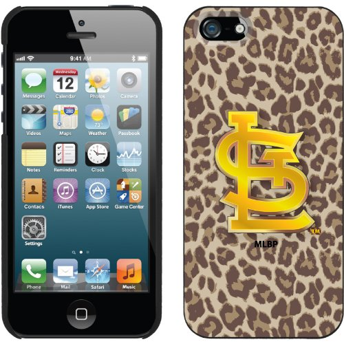 Best Price St. Louis Cardinals - Leopard Print design on a Black iPhone 5s / 5 Thinshield Snap-On Case by Coveroo