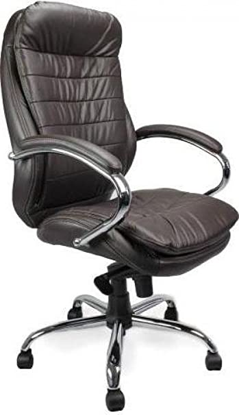 Eliza Tinsley 618KTAG High Back Leather Faced Executive Armchair with Chrome Base and Arms