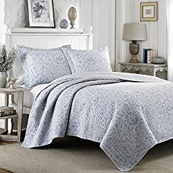 Laura Ashley Mia Quilt Set, Full/Queen, Pebble