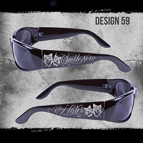 SMILE NOW CRY LATER CITY LOCS SUNGLASSES BLACK CHOPPERS CHICANO RAP SHADES NWT (Chicano Locs compare prices)