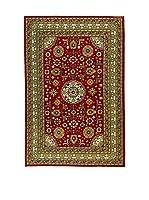 L'Eden del Tappeto Alfombra Azerbaijan Rojo / Verde 203  x  131 cm