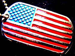 FLAG UNITED STATES AMERICA USA DOG TAG MILITARY PENDANT