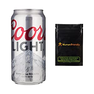 Coors Light Beer Diversion Safe Stash Can 12 oz w HumanFriendly Smell Proof Bag