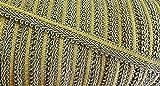 2 m Posamentenborte grün/gold 15 mm