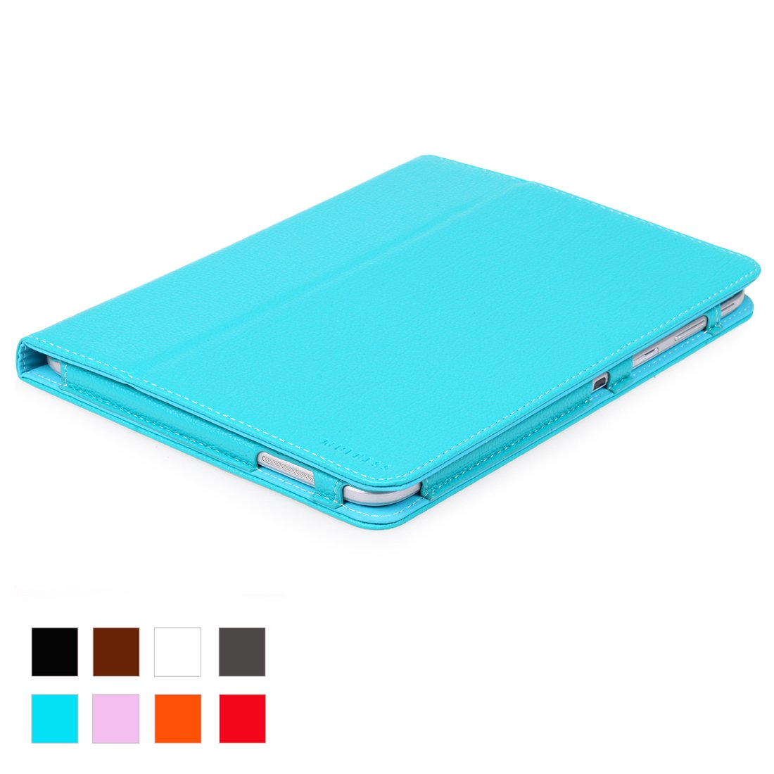 Mulbess® Samsung Galaxy Tab 3 10.1 Funda de cuero Piel Genuina con soporte + Premium Stylus pen para Samsung Galaxy Tab 3 10.1 Color Azul-Verde  Electrónica Revisión del cliente y la descripción más