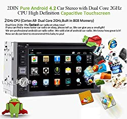See Free rear camera 6.2 Inch Android 4.2 GPS Navigation Headunit Capactive touch screen Car DVD Player Stereo Radio Double2 DIN WIFI APP Bluetooth USB SD Details