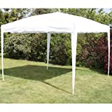 ANDES 3M X 3M FOLDING POP-UP GAZEBO GARDEN PARTY TENT MARQUEE WHITE