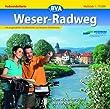 Weserradweg: Vom Weserbergland bis zur Nordsee, mit Erweiterung bis Cuxhaven Ma�stab: 1:75000