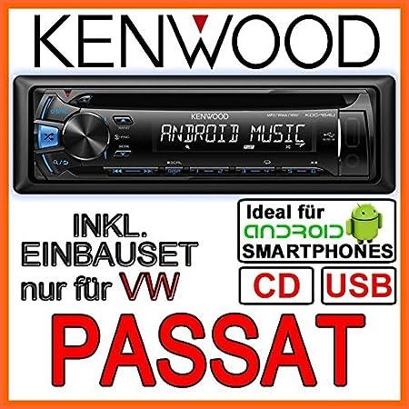Kenwood KDC-161 UB Autoradio CD/MP3/USB avec kit de montage encastré pour VW Passat 3B & 3BG