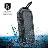 [IPX6] [Waterproof Shockproof Dustproof] Rugged Water Resistant Outdoor Bluetooth Speaker for Extreme Sports & Activities with a Durable Carabineer (Compatible with Apple, Samsung, Android & Bluetooth Devices) Collision by iLuv