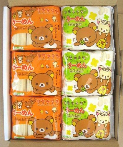 うーめん リラックマパッケージ 12袋入(B・W各6袋入)