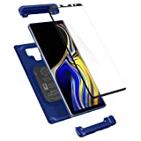 Spigen Thin Fit 360 Galaxy Note 9 Case with Exact Slim Full Protection and Tempered Glass Galaxy Note 9 Screen Protector (2018) - Ocean Blue (Color: Ocean Blue)